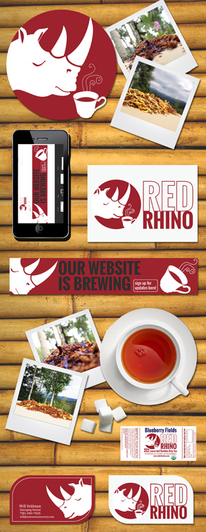 Red Rhino Tea Branding Sheet by Garlic Media Group