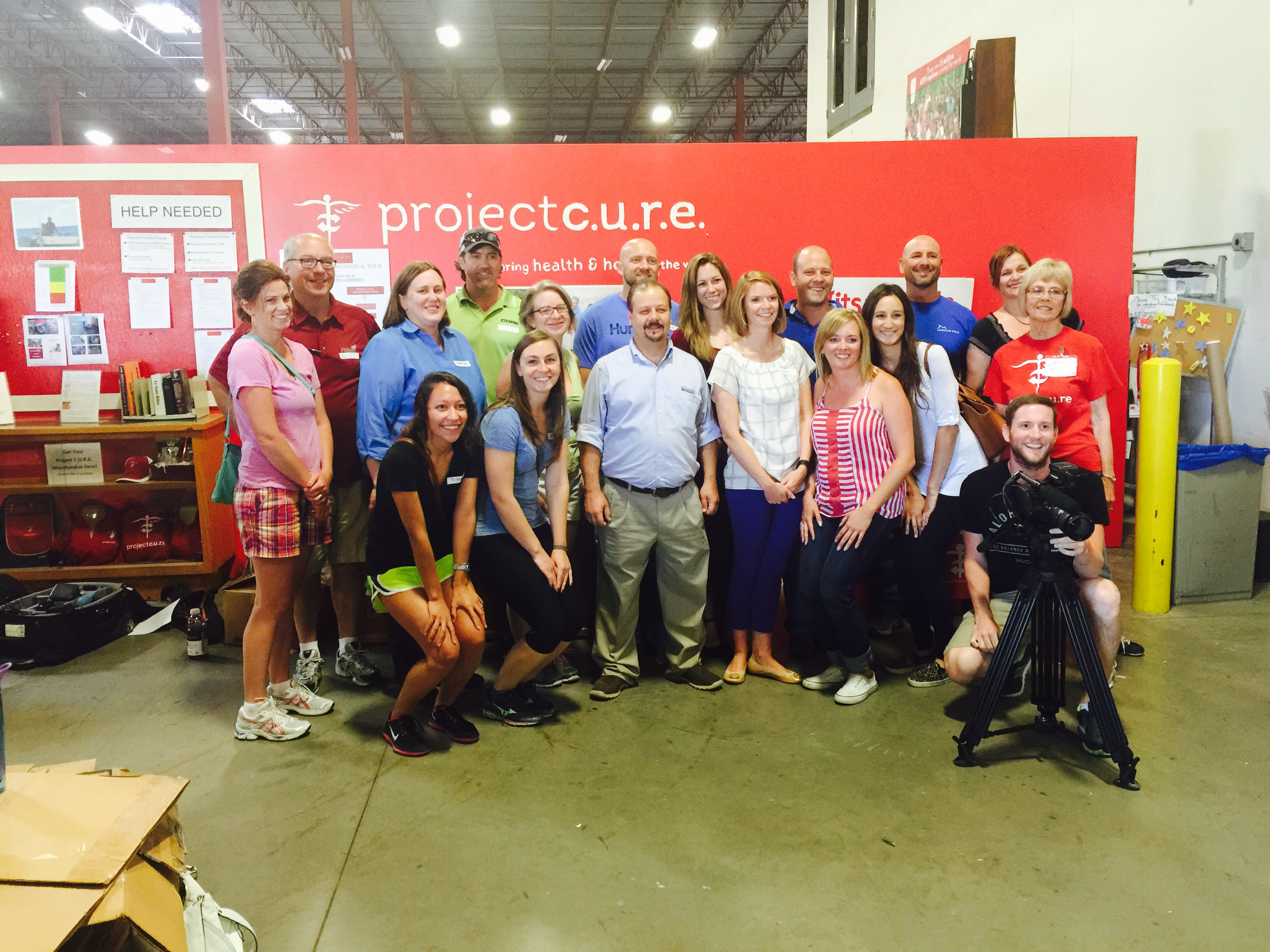 Group Shot at Project CURE Volunteering