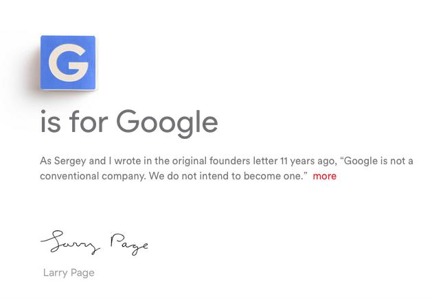 Google Alphabet abc.xyz