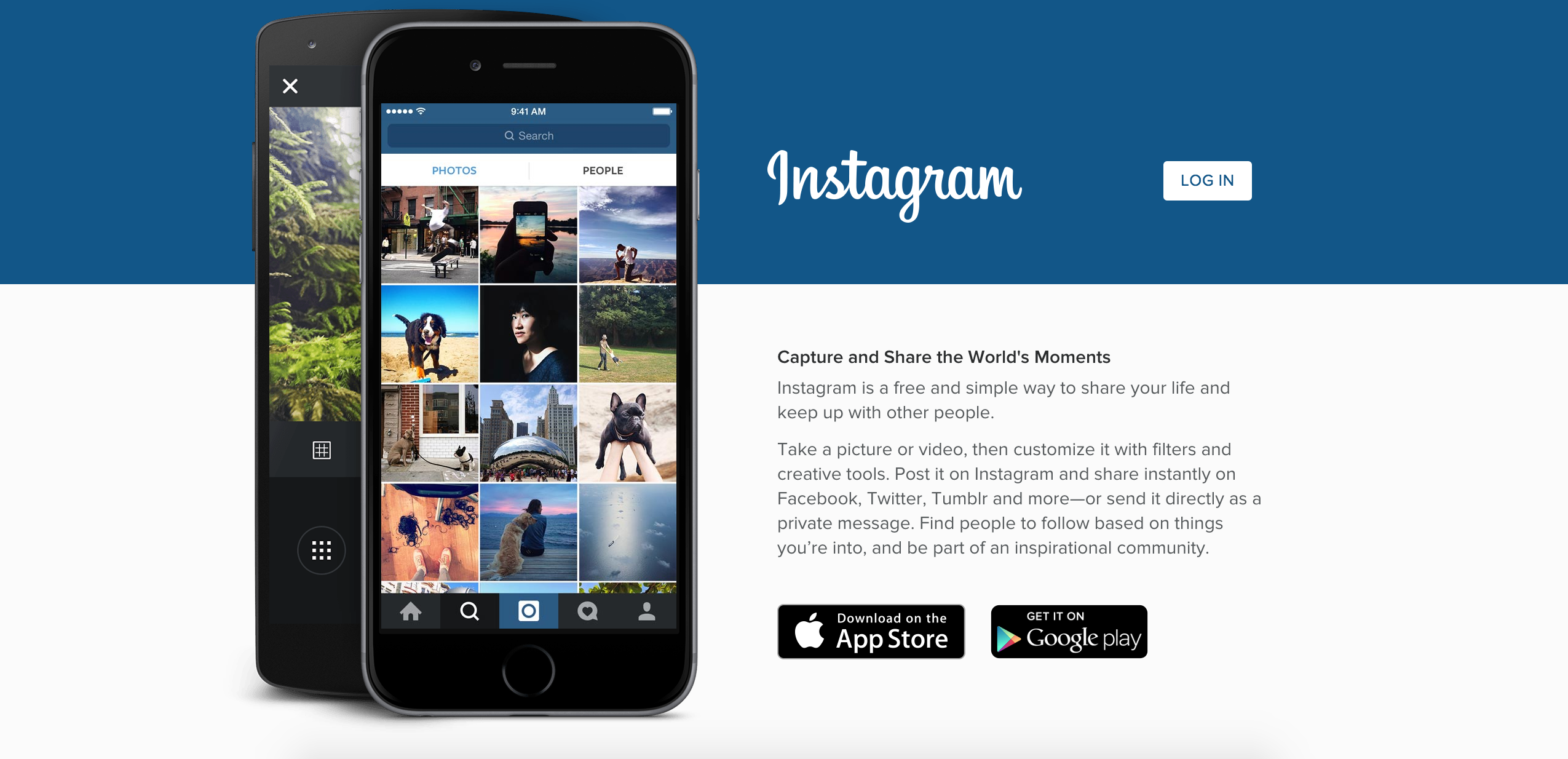 Instagram Log In Page