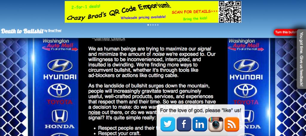 Death to Bullshit Full Website